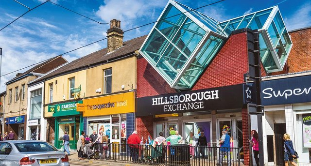 The Exchange Shopping Centre in Hillsborough is set to be sold at auction, with a guide price of £2.25million