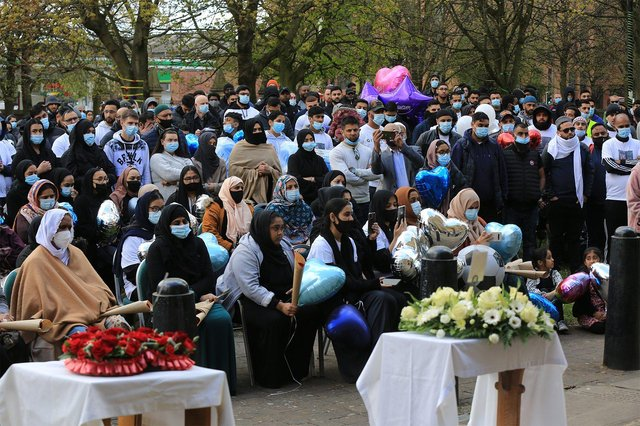 A vigil was held for murder victim Khurm Javed at St Mary's Church in Sheffield