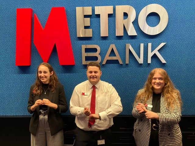 Sheffield Metro Bank colleagues sign British Sign Language