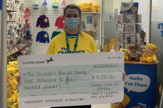 The Rotary club of Wortley have raised £4,500 for The Sheffield Children's Hospital Charity.