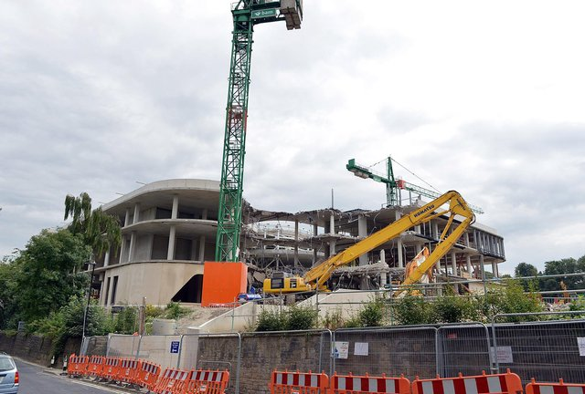 The Faculty of Social Sciences hub had been due for completion in 2021 but construction was halted after ground movement comprised the building's concrete frame