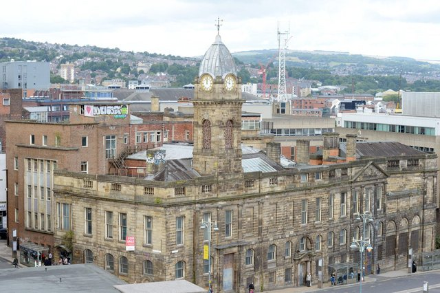 Sheffield Stock pic taken from roof of Wilkos Old Town Hall
