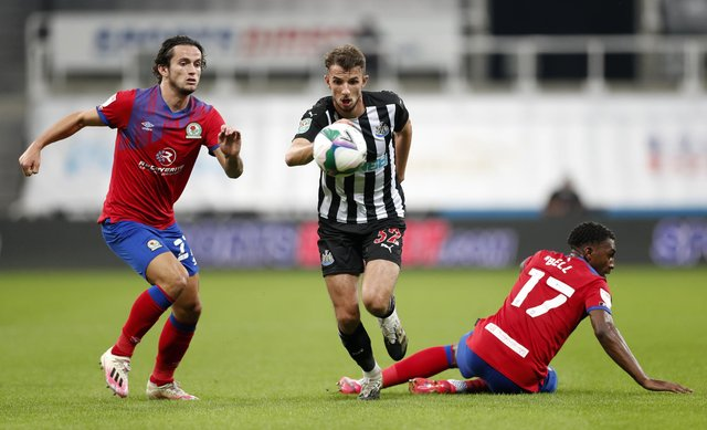 Newcastle United's Daniel Barlaser is a player Paul Warne has been hopeful of bringing back to Rotherham United.