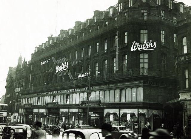 The department store of John Walsh Ltd, High Street, Sheffield, in 1950