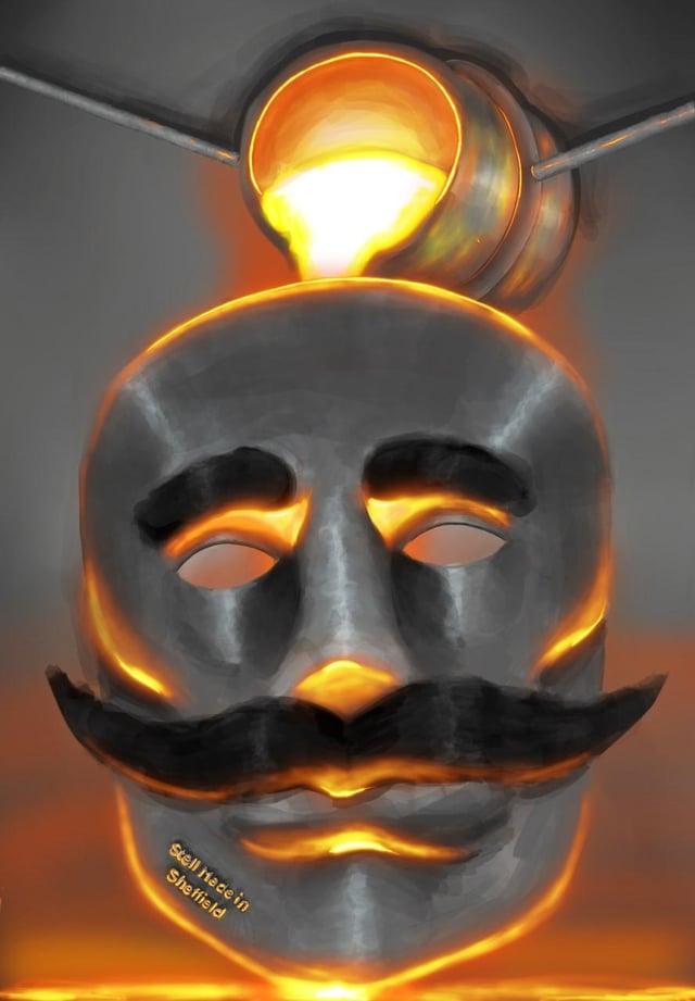Saif Abdhullah's (year 9) 'Steel Mask'