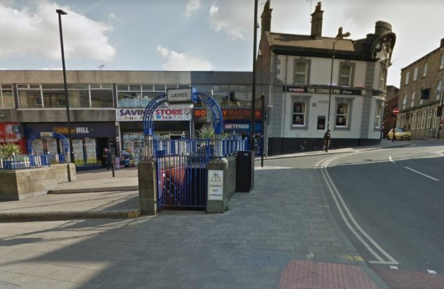 Peel Street, Barnsley, where a man was seen brandishing a crossbow and threatening members of the public (pic: Google)