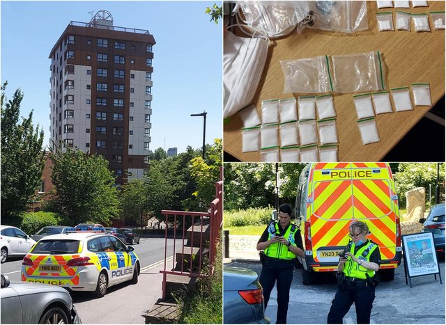 Police officers mounted an operation to tackle drug dealing and speeding in the Oxford Street area of Upperthorpe, Sheffield