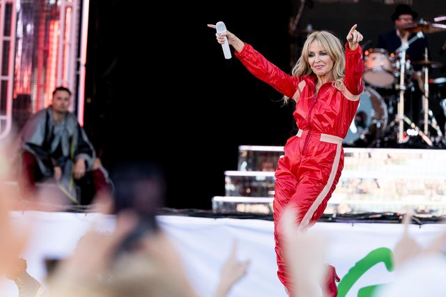 Kylie Minogue made a surprise visit to Barnsley.
