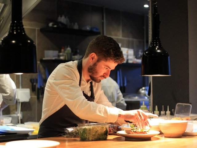 Luke French at Sheffield's Jöro restaurant, which is taking part in Eat Out to Help Out.