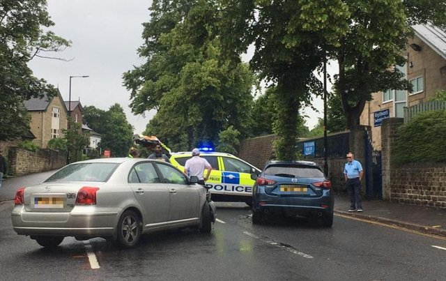 The collision in Broomhill this afternoon