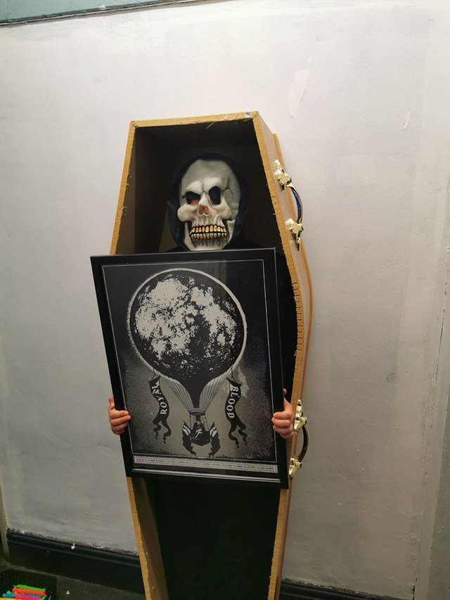 This coffin, used by Royal Blood for their Halloween show in 2014, sold for £500