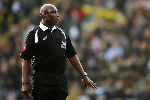 Uriah Rennie from Sheffield was one of the first black referees to officiate in the Premier League (Photo by Richard Heathcote/Getty Images)