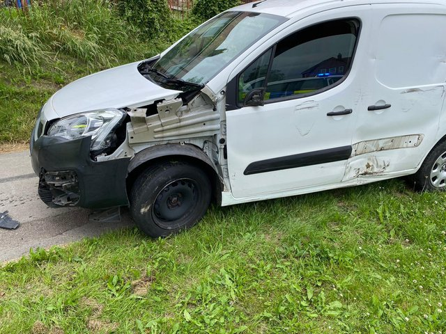 The van that was chased by police