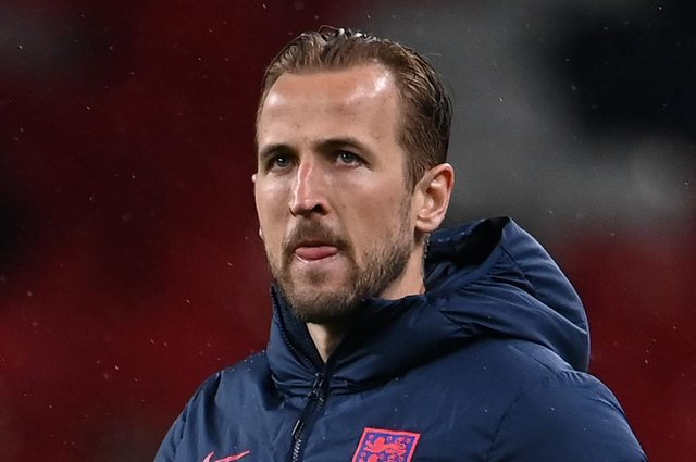 Harry Kane of England looks dejected after the UEFA Euro 2020 Championship Group D match between England and Scotland at Wembley Stadium on June 18, 2021 in London, England. (Photo by Andy Rain - Pool/Getty Images)