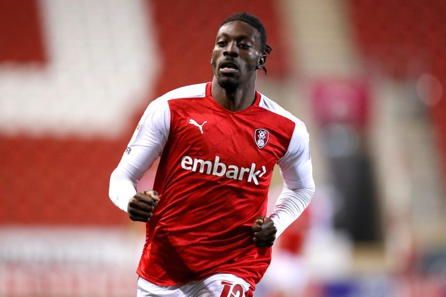 Rotherham United's Freddie Ladapo. (Photo by George Wood/Getty Images)
