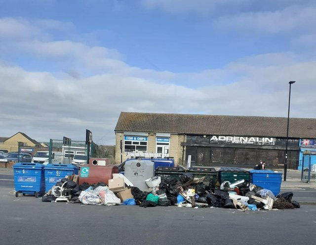 Rubbish piles up on a daily basis at the car park. Picture by Kerry Addison