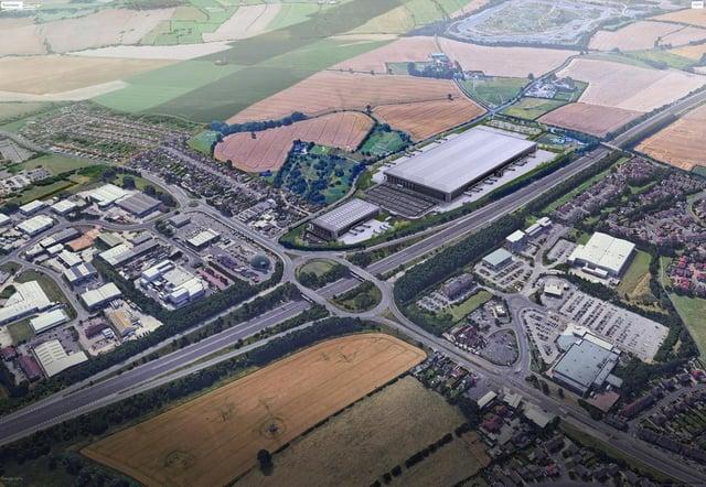 Plans have been revealed for a huge distribution centre.