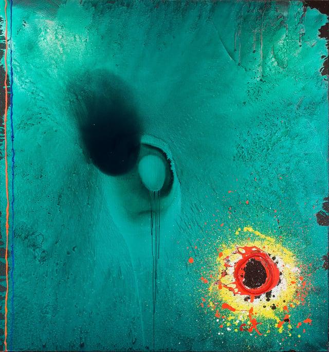 John Hoyland, Elegy (For Terry Frost), 2003, acrylic on canvas © The John Hoyland Estate