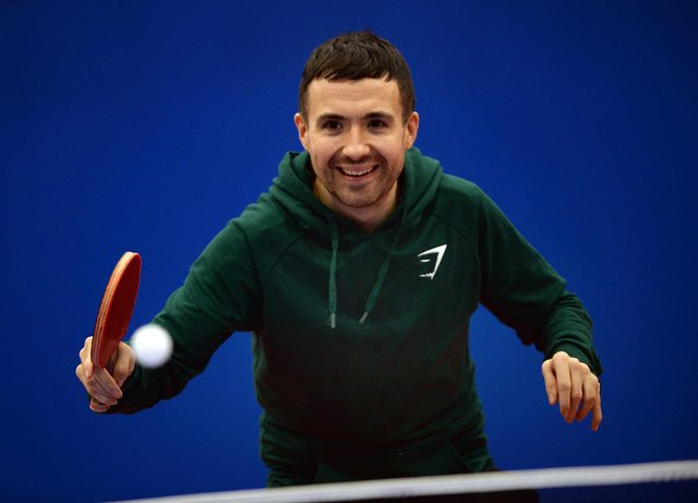 Paralympic table tennis player Will Bayley pictured at EIS Sheffield, where he is based and trains. Will is ranked number one in the world and is in Tokyo to defend his Paralympic title. He's also a familiar face to Strictly fans, having appeared in the show