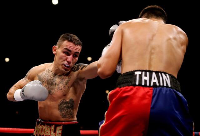 Lee Noble in action against John Thain in 2012.