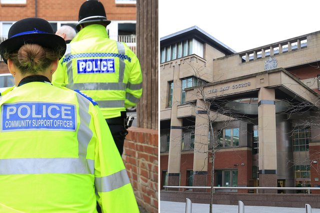 Sheffield Crown Court, pictured, heard how a South Yorkshire woman who assaulted a police officer has been given a suspended prison sentence.