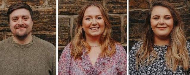 From left, Little Mesters' Head Mester Tom Scott, Social Mester Becky MacTaggart and Operations Mester Charlotte Scott