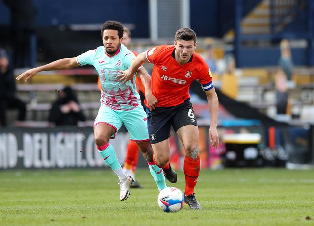 Luton Town's Matty Pearson is out of contract this summer.