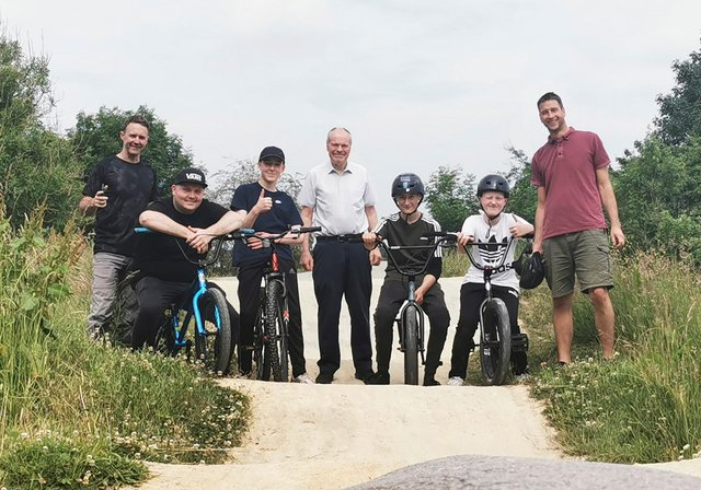Charnock Bike Track Club meets with MP Clive Betts.