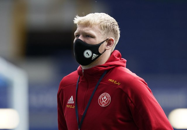 Liverpool, England, 16th May 2021. Aaron Ramsdale of Sheffield Utd  during the Premier League match at Goodison Park, Liverpool. Picture credit should read: Andrew Yates / Sportimage