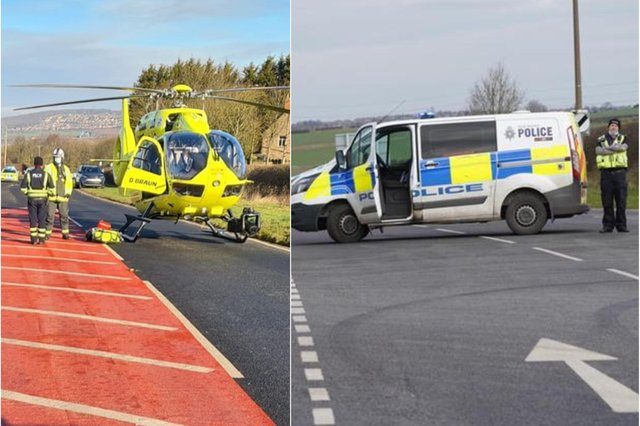 Two cars collided on the A618 Pleasley Road, between Whiston and Aughton, on Tuesday morning.