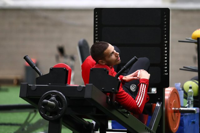 Jack Rodwell of Sheffield United during the training session at the Steelphalt Academy: Simon Bellis/Sportimage