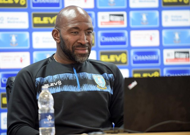 Sheffield Wednesday manager Darren Moore will speak to the media this morning.
