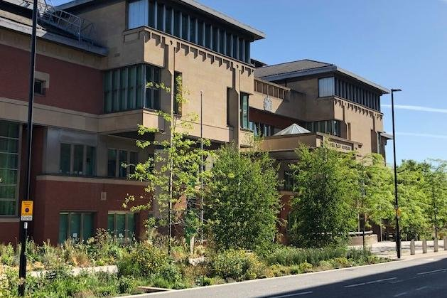 Sheffield Crown Court, pictured, heard how a drug-offender was caught at his South Yorkshire home planning to supply drugs abroad.