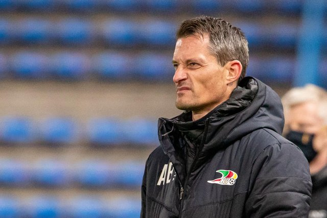 Oostende's head coach Alexander Blessin is United's top managerial target, despite his ineligibility for a work permit  (Photo by KURT DESPLENTER/BELGA MAG/AFP via Getty Images)