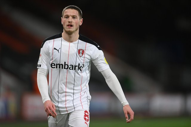 Rotherham United's Ben Wiles is not expected to be fit for Saturday's clash with Bristol City.. (Photo by Mike Hewitt/Getty Images)