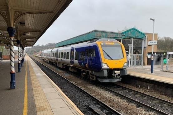 One of the new CAF-built Class 195 trains at Chesterfield.