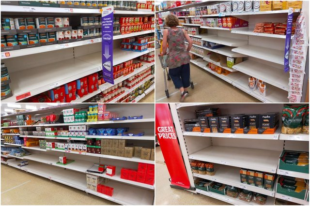 The Star went out to see how empty Sheffield's supermarket shelves were. There were gaps  - but a food shortage was hard to argue.