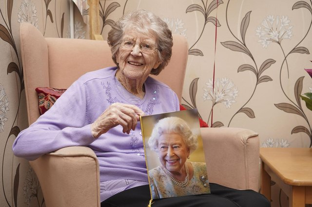 Faith Greenfield celebrated her 100th birthday at Cairn care home. Picture Scott Merrylees