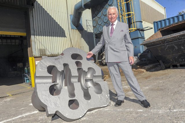 Sir Andrew Cook at William Cook Cast Products in Sheffield. Picture Scott Merrylees