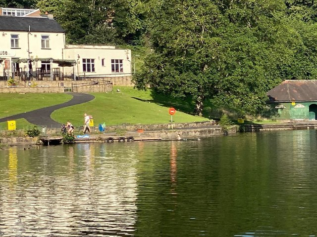 Crookes Valley Park, Sheffield, where a huge search was mounted on Sunday night for a man who had got into difficulty in the water