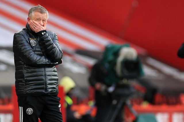 Chris Wilder, manager of Sheffield United  (Photo by Mike Egerton - Pool/Getty Images)