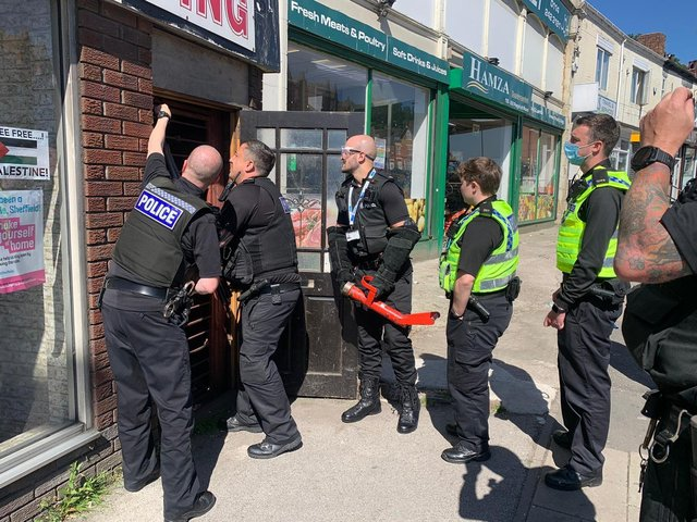 Police seized cannabis plants worth £600,000 in raids in the Page Hall area of Sheffield