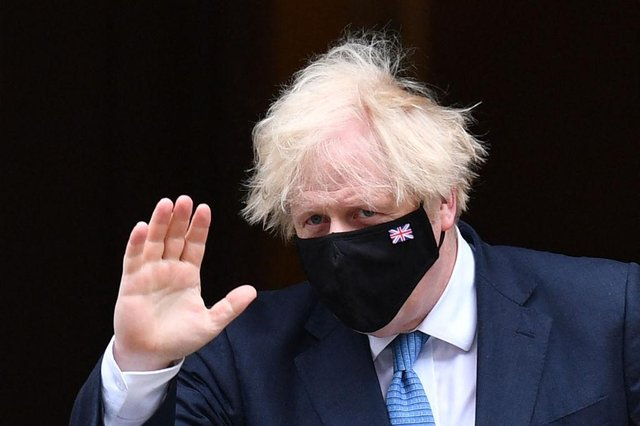 Boris Johnson said he was 'appalled by the abhorrent abuse' directed at England's footballers (Photo by JUSTIN TALLIS/AFP via Getty Images)