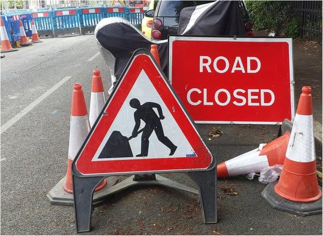 Roadworks in Sheffield