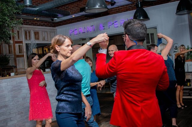 Dance lessons at the Perini & Perini Bar at Ponti's Italian Kitchen in Fox Valley