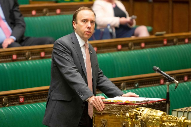 Health secretary Matt Hancock has explained why South Yorkshire remains under Tier 3 coronavirus restrictions (Photo by ROGER HARRIS/UK PARLIAMENT/AFP via Getty Images)