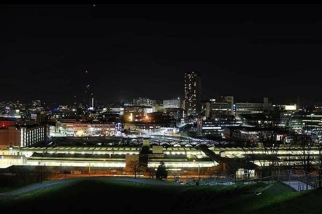 Sheffield at night by @burko192
