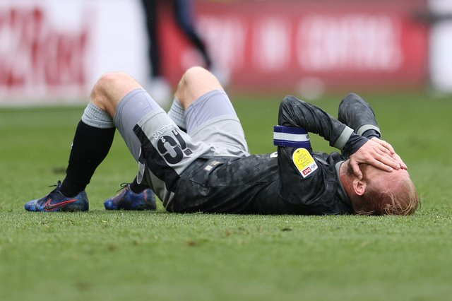 Sheffield Wednesday captain Barry Bannan was distraught at the final whistle of their do-or-die clash with Derby County.
