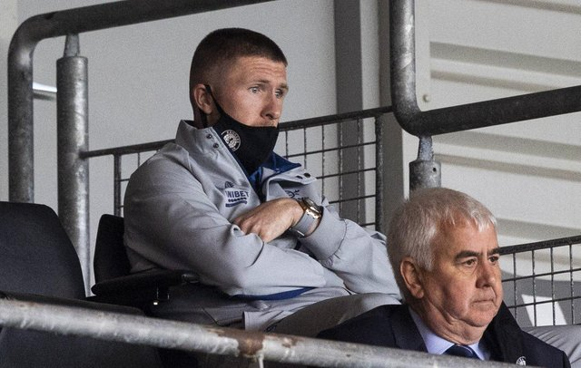 New Rangers signing John Lundstram watches on during a pre-season friendly between Partick Thistle and Rangers at Firhill (Craig Williamson / SNS Group)