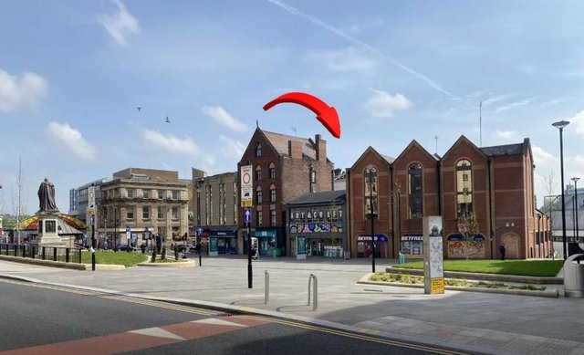 The property on Fitzalan Square sold for four times the asking price